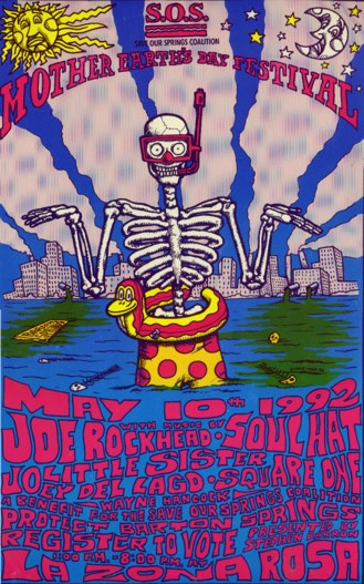 Poster for the first Mother Earth's Day Festival - May 10, 1992.